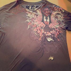 Monarchy vintage Black T-shirt size xxl